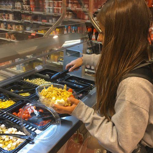 Comida de un supermercado en Odda