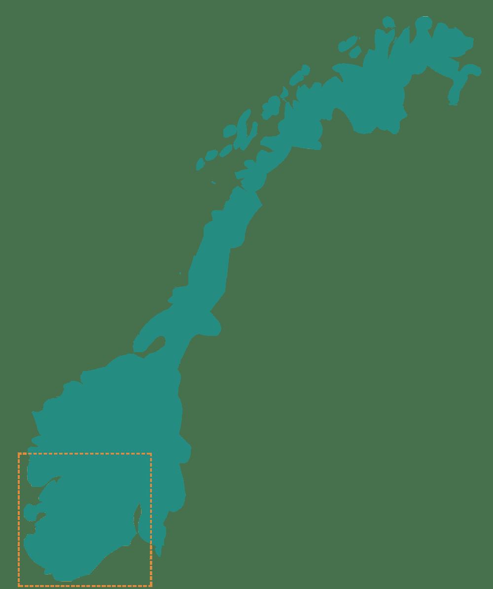 mapa noruega entero