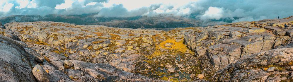 Rocas peladas en Kjerag por culpa del clima