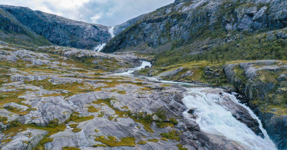 El conjunto de cascadas Sotefossen