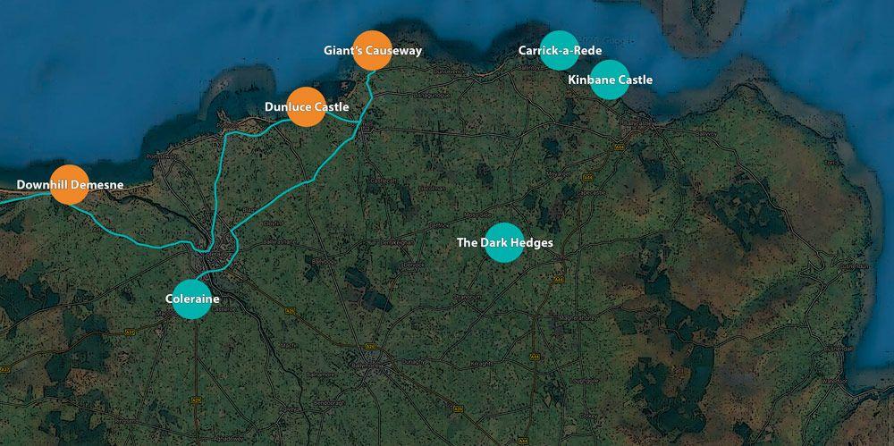 Mapa ruta Irlanda del Norte