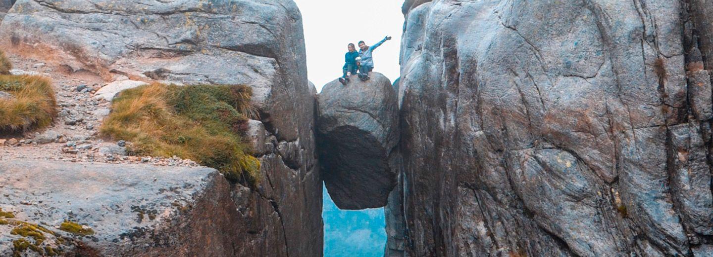 Kjeragbolten, la roca colgante de Noruega