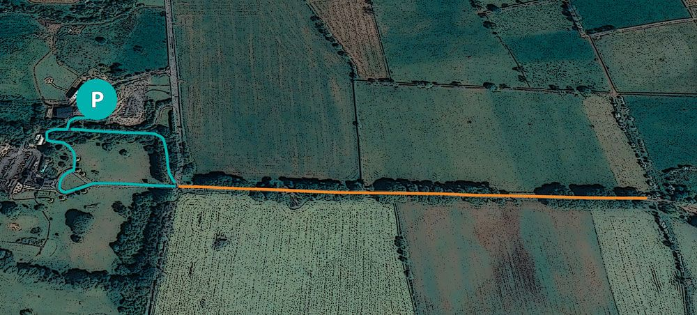 Mapa de la ruta a The Dark Hedges