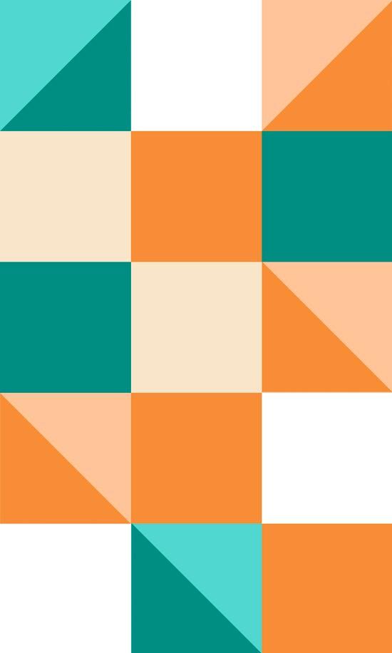 cuadrados de colores naranja