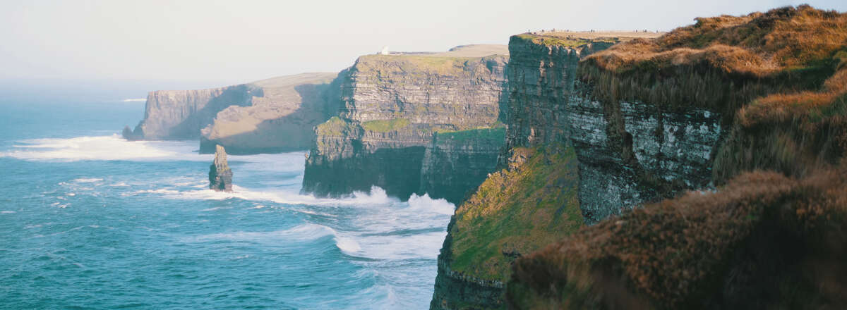 Vistas de acantilados de Irlanda