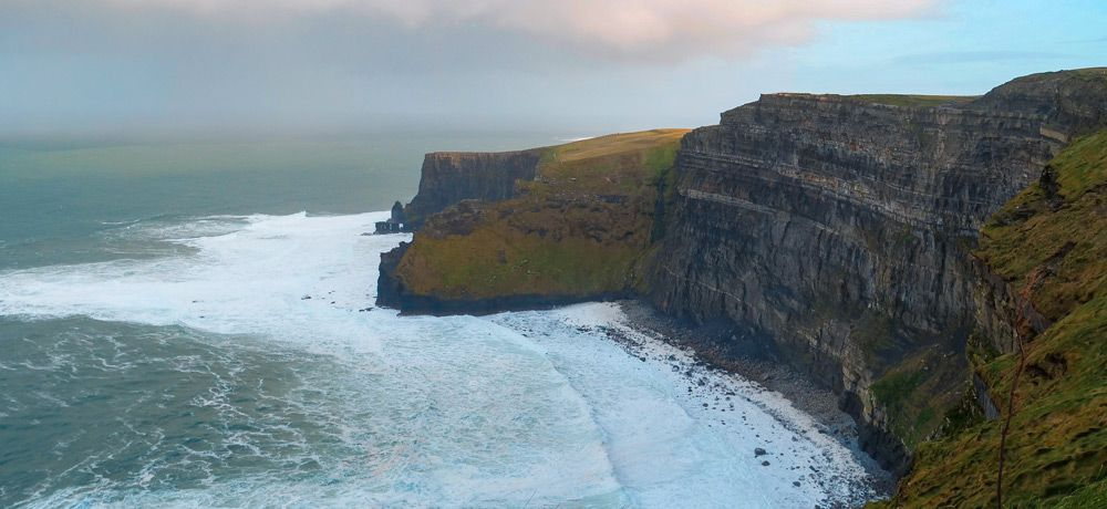 Enorme acantilado extremo norte