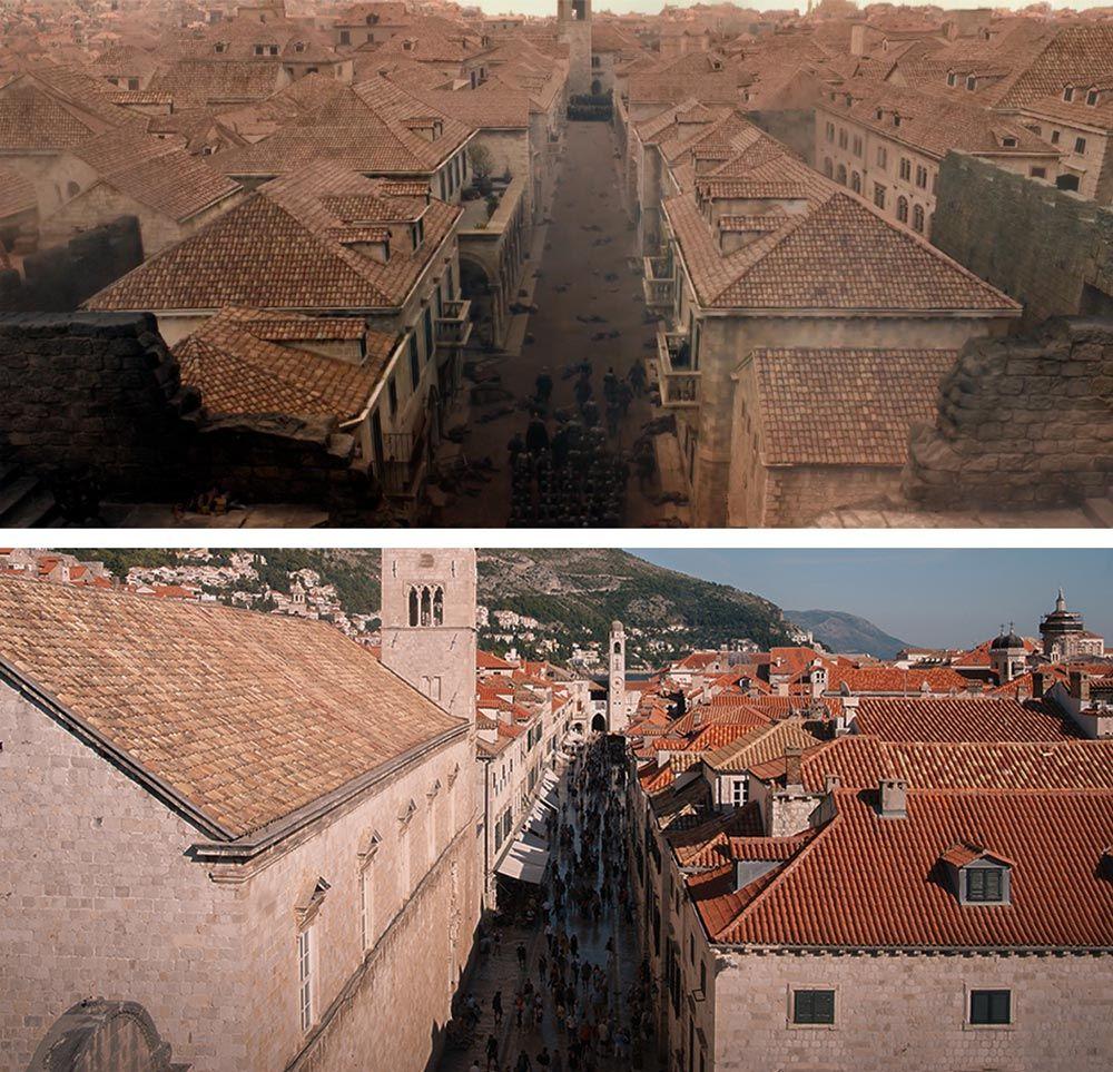 Stradun como escenario de Juego de Tronos en Dubrovnik