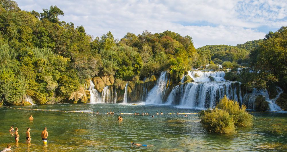 Cascada Skradin Buk del Parque Nacional Krka en Croacia