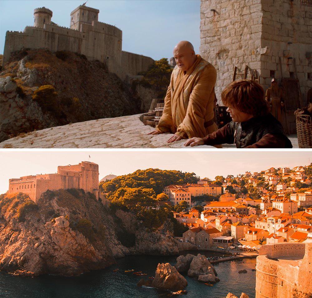 vista de la bahía y Lovrijenac donde se grabó Juego de Tronos en Dubrovnik
