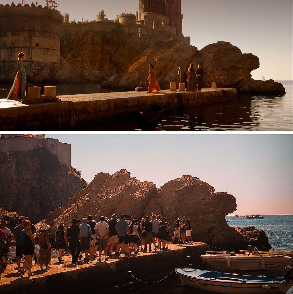 Embarcadero de la bahía de Dubrovnik donde grabaron Juego de Tronos