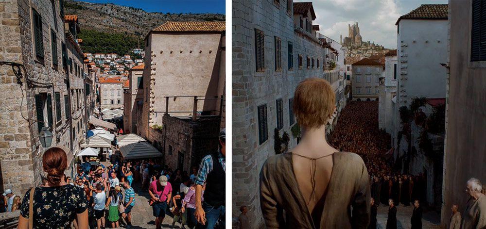 Escalinata de Dubrovnik que utilizaron como escenario de Juego de Tronos en Dubrovnik