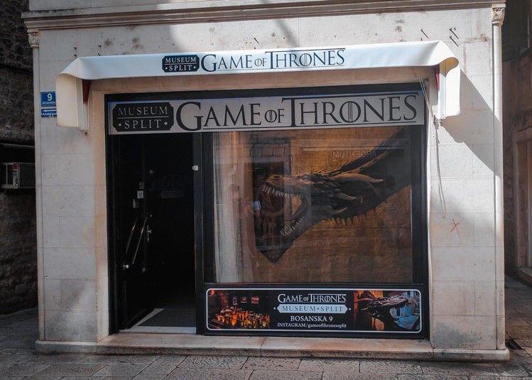 Entrada del museo de Juego de Tronos en Split