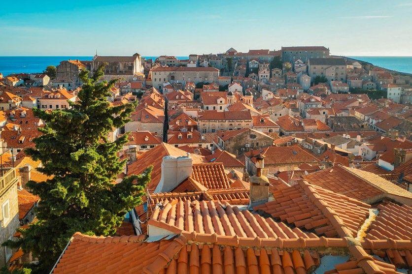 Tejados de las casas del casco antiguo de Dubrovnik