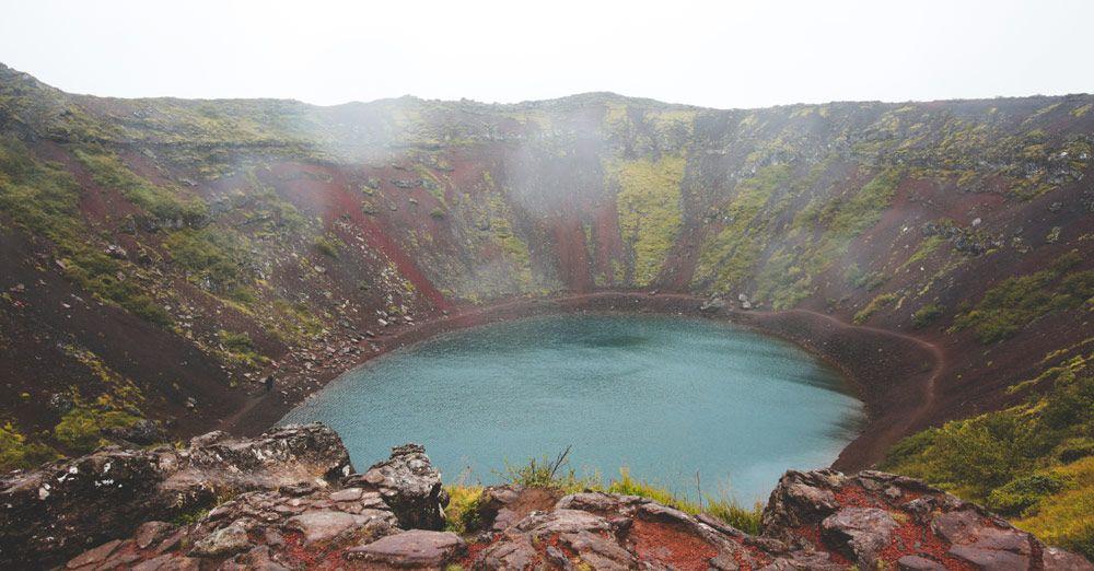 llegar al kerid crater y pagar el parking