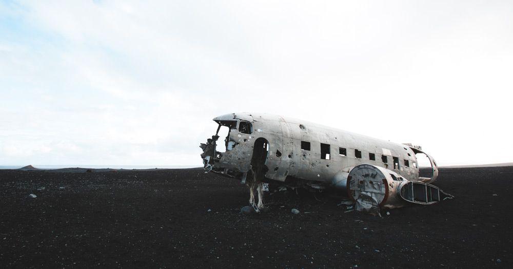 como llegar all avion estrellado de islandia