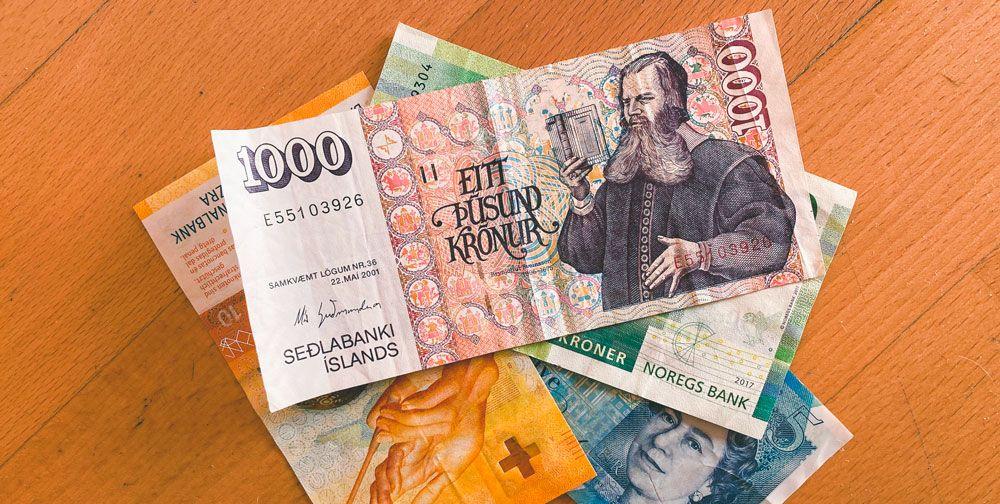La moneda oficial de Islandia es la Corona (ISK)