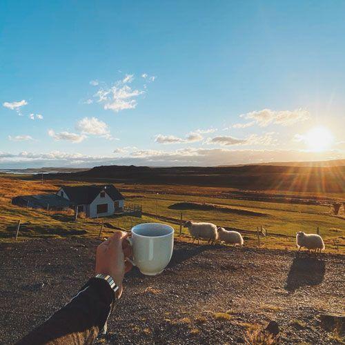 Despertarse tras alojarse en Islandia en un sitio así