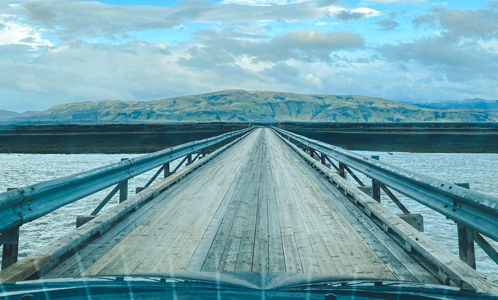 Como vadear rios en Islandia sin puentes
