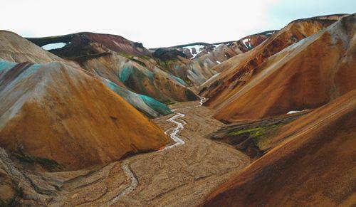 montañas de la excursion a landamannalaugar