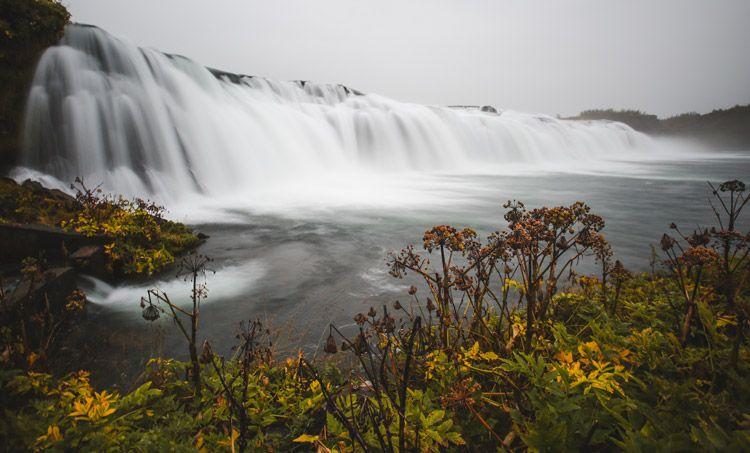 Islandia en verano y la cascada faxi