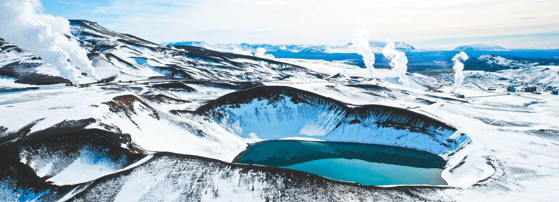 Krafla Crater durante nuestro viaje a islandia en 10 dias