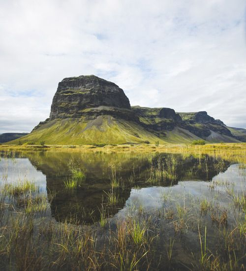 la montaña lomagnupur de islandia
