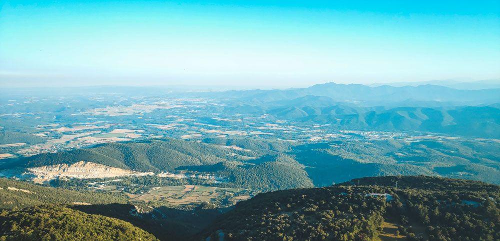 Vistas des de el Santuari de Mare de Deu de Mont