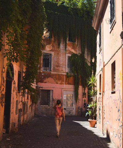 Barrio del Trastevere de Roma