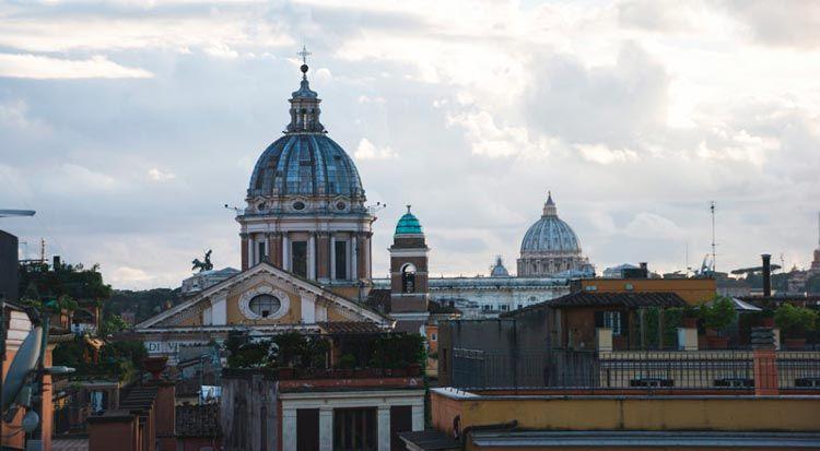 Tejados y cúpulas de Roma