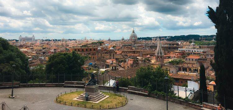 Vistas de Roma desde el parque