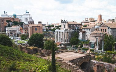 Restos de la antigua civilización romana