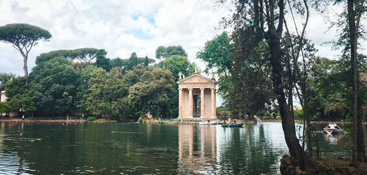Lago de Villa Borghese de Roma