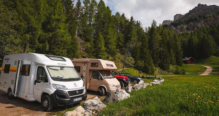 aparcamiento de las autocaravanas en italia