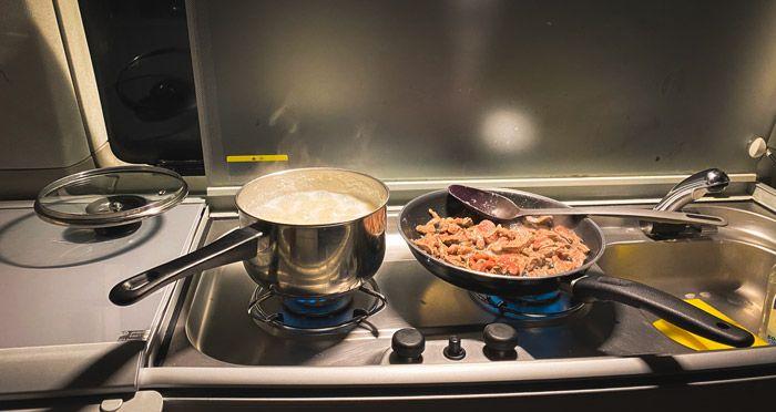 cocina de la camper